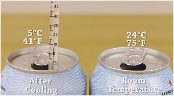 家で簡単に出来る!ぬるい缶ジュースを2分で冷やす方法