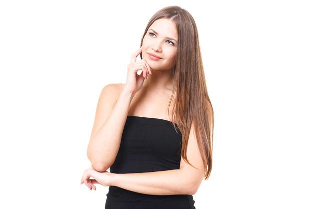 髪の毛が長い女性