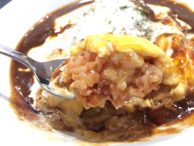 トロトロ玉子のオムハヤチーズハンバーグON