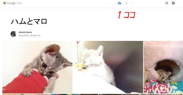 Googleフォトでの共有方法