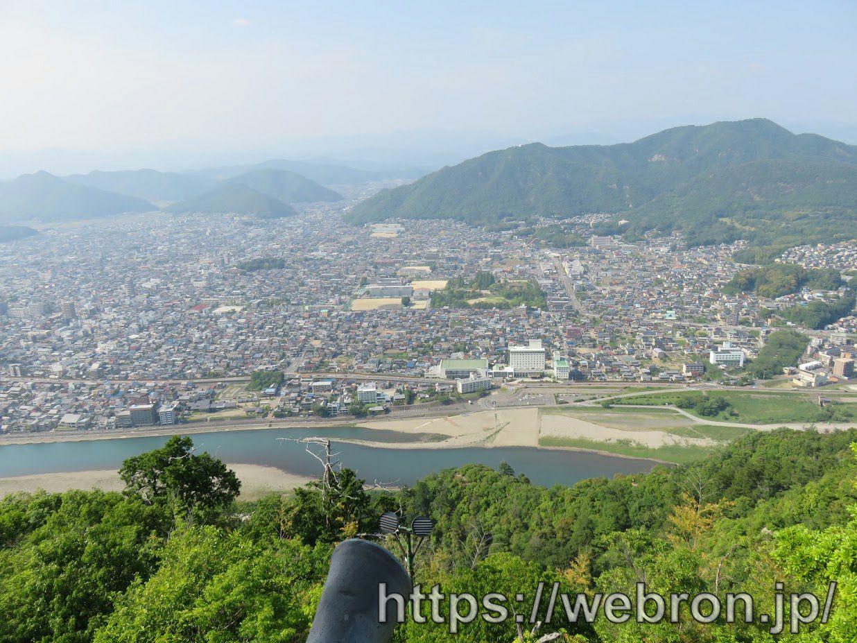 岐阜城の最上階からの景色