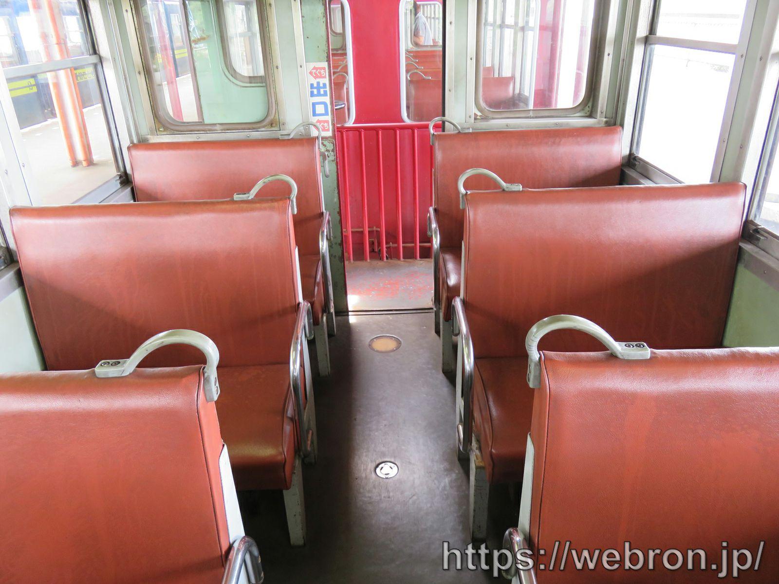 愛知こどもの国の蒸気機関車の座席