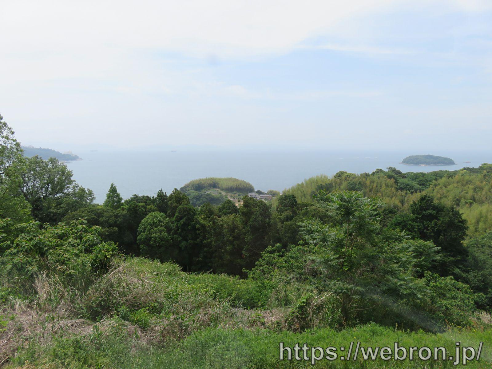 愛知こどもの国の蒸気機関車から見える景色