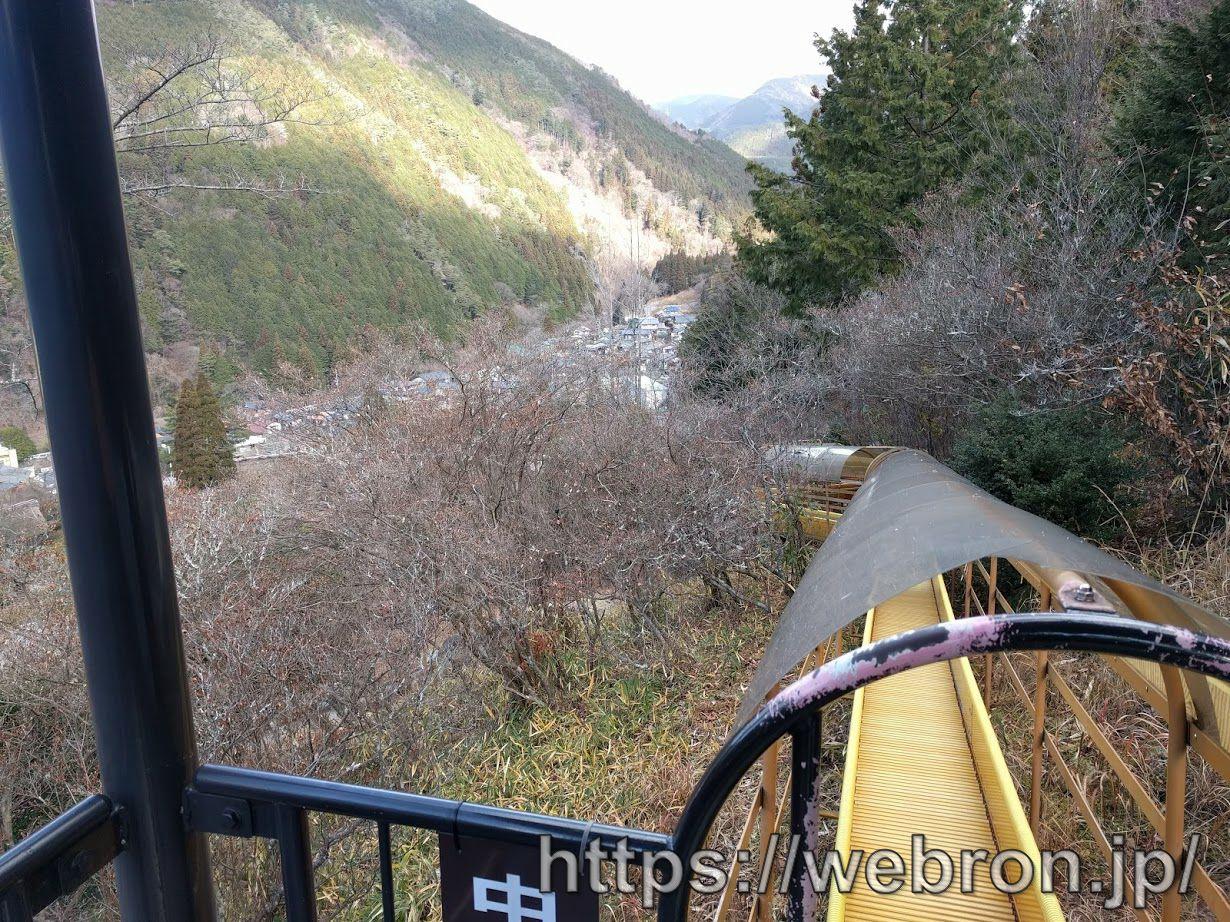 合掌村の森の滑り台