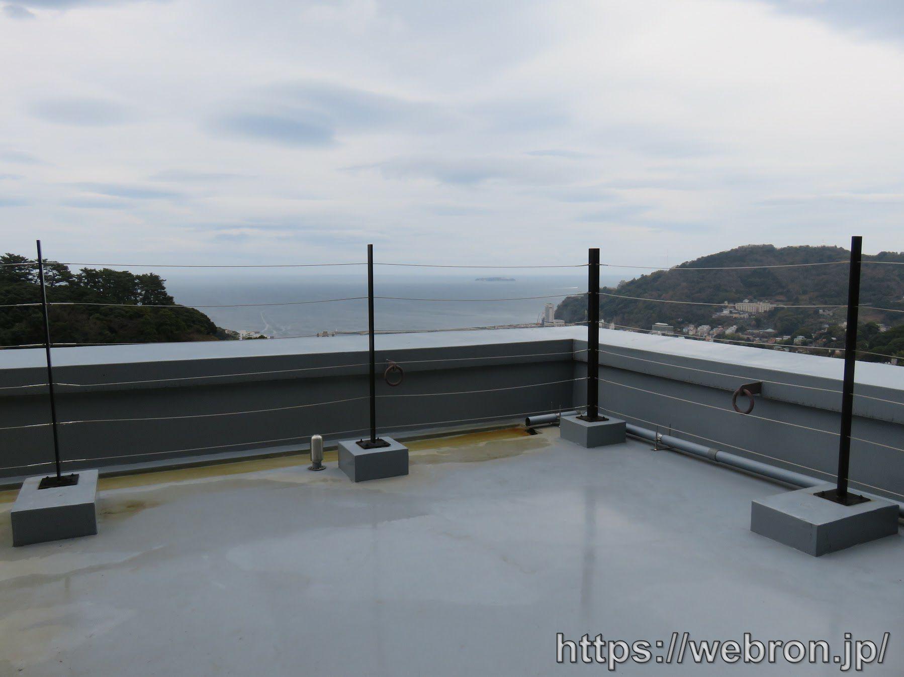 風の間の客室露天風呂からの景色